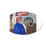 BluesSingerCPtile Oval Car Magnet