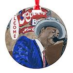 BluesSingerCPtile Round Ornament