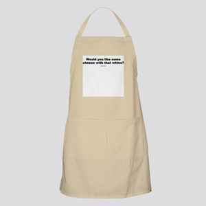 Cheese with that whine? BBQ Apron