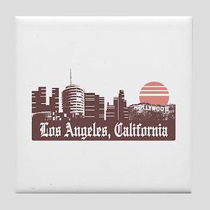 Los Angeles Linesky Tile Coaster