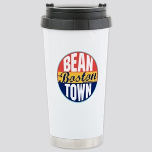 Boston Vintage Label Stainless Steel Travel Mug
