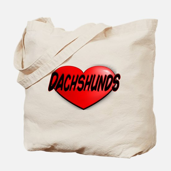LOVE DACHSHUNDS Tote Bag