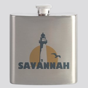 Savannah Beach GA - Lighthouse Design. Flask