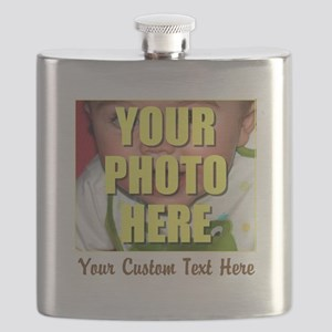 Custom Photo and Text Flask