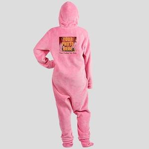 Custom Photo and Text Footed Pajamas
