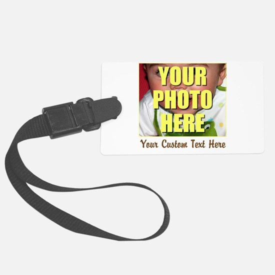 Custom Photo and Text Large Luggage Tag