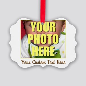 Custom Photo and Text Picture Ornament