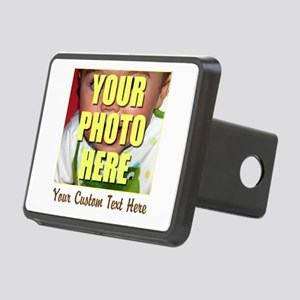 Custom Photo and Text Rectangular Hitch Cover