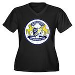 USS BRUMBY Women's Plus Size V-Neck Dark T-Shirt