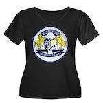 USS BRUMBY Women's Plus Size Scoop Neck Dark T-Shi