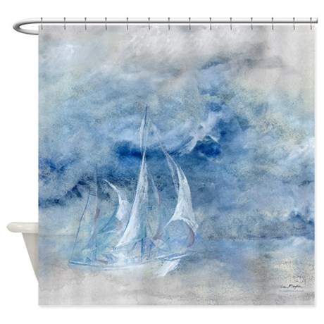 Storm Sail Shower Curtain By McLaughlinWatercolor