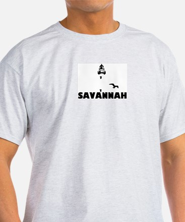 Savannah Beach GA - Lighthouse Design. T-Shirt