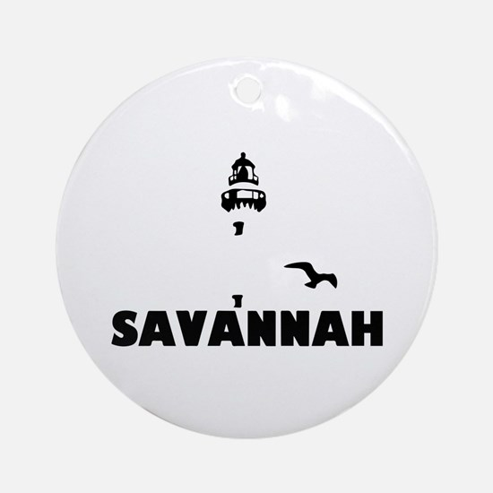 Savannah Beach GA - Lighthouse Design. Ornament (R