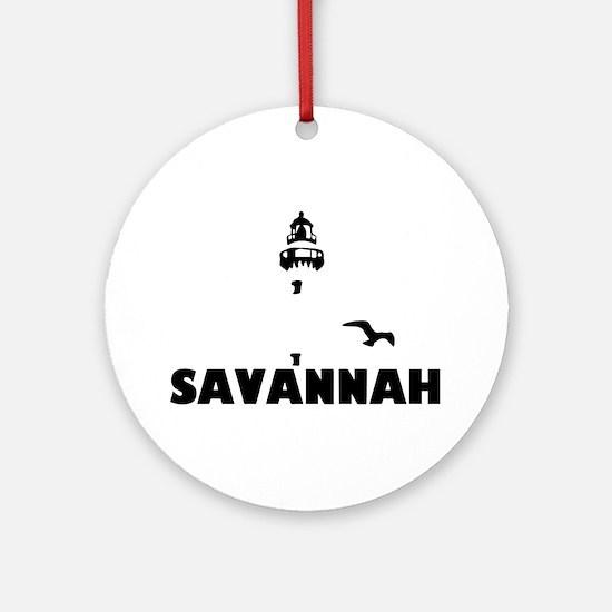Savannah Beach GA - Lighthouse Design. Ornament (R