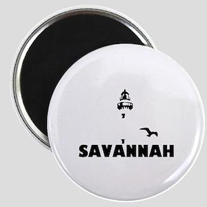 Savannah Beach GA - Lighthouse Design. Magnet