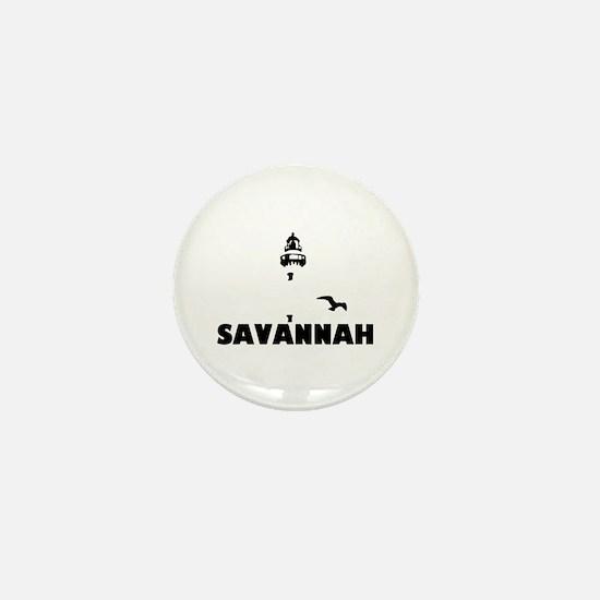 Savannah Beach GA - Lighthouse Design. Mini Button