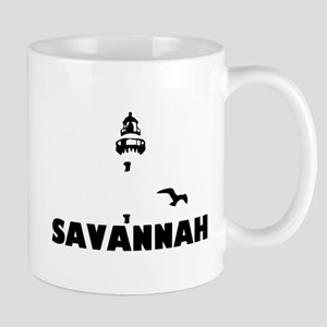 Savannah Beach GA - Lighthouse Design. Mug