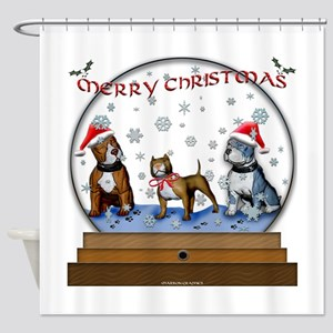 christmas glbe1 Shower Curtain