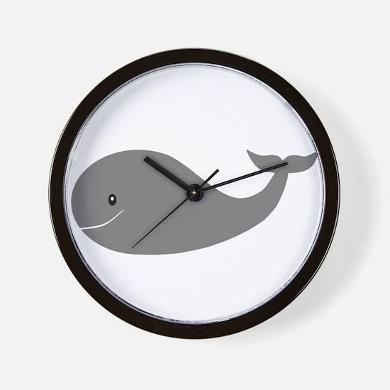 Happy Grey Whale Wall Clock