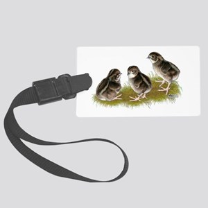 Coturnix Quail Chicks Large Luggage Tag