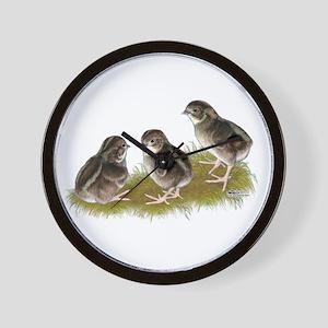 Coturnix Quail Chicks Wall Clock