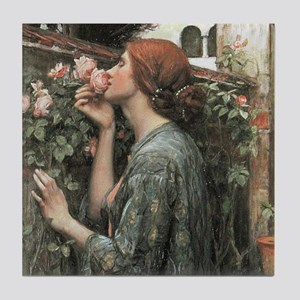 The Soul of the Rose by Waterhouse Tile Coaster