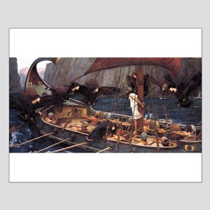 Ulysses and the Syrens by Waterhouse Small Poster