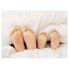 Children's feet Poster