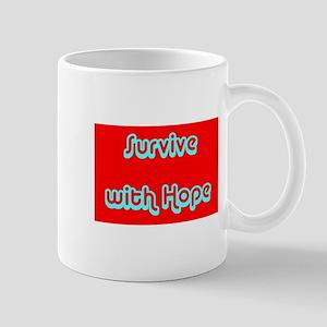 Survive with Hope Cancer Survivor Red Designer Mug