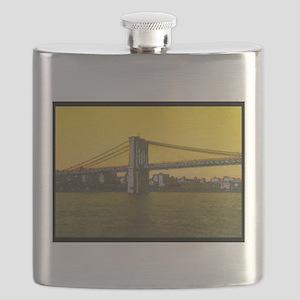 Retro Brooklyn Bridge Majestic NYC Flask