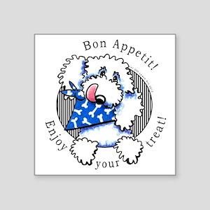 "Dog Enjoy Your Treat Gift Wrap Square Sticker 3"" x"