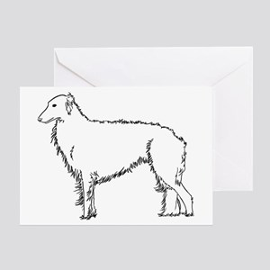 Standing Silken Windhound Ite Greeting Card