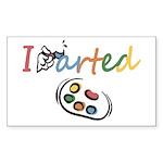 I Arted Sticker (Rectangle 10 pk)