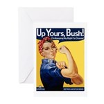 Up Yours, Bush Greeting Cards (Pk of 10)