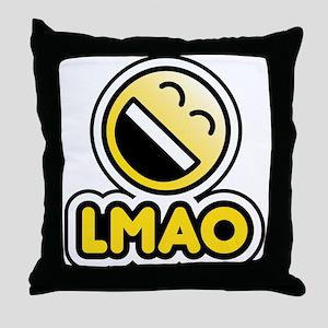 lmao bbm smiley Throw Pillow