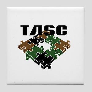 TASC Logo Items Tile Coaster