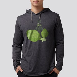 Eat Your Veggies Mens Hooded Shirt