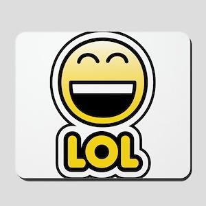 lol bbm smiley Mousepad