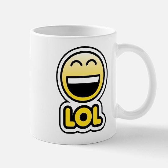 lol bbm smiley Mug