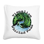 Visualize Whirled Peas Square Canvas Pillow