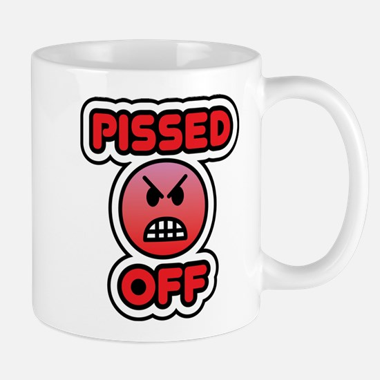 pissed off bbm smiley Mug