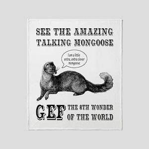 Gef The Talking Mongoose Throw Blanket
