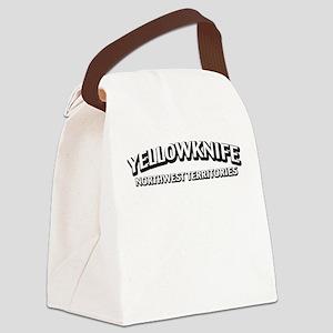 Yellowknife NWT Canvas Lunch Bag