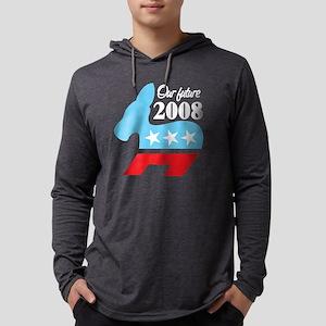 Our Future 2008, dark shirts Mens Hooded Shirt