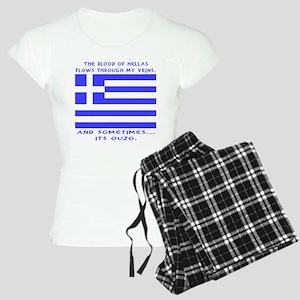 Blood of Hellas and Ouzo Women's Light Pajamas
