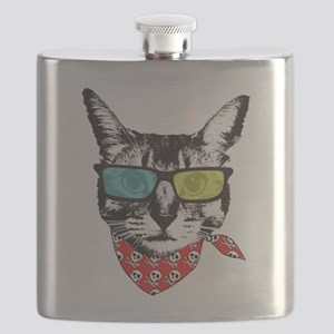 Cat with sunglass Flask