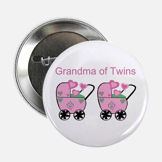 Grandma of Twins (Girls) Button