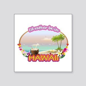 "HAWAII 2 Square Sticker 3"" x 3"""