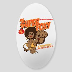 Ms. Super Foxy Sticker (Oval)