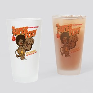 Ms. Super Foxy Drinking Glass
